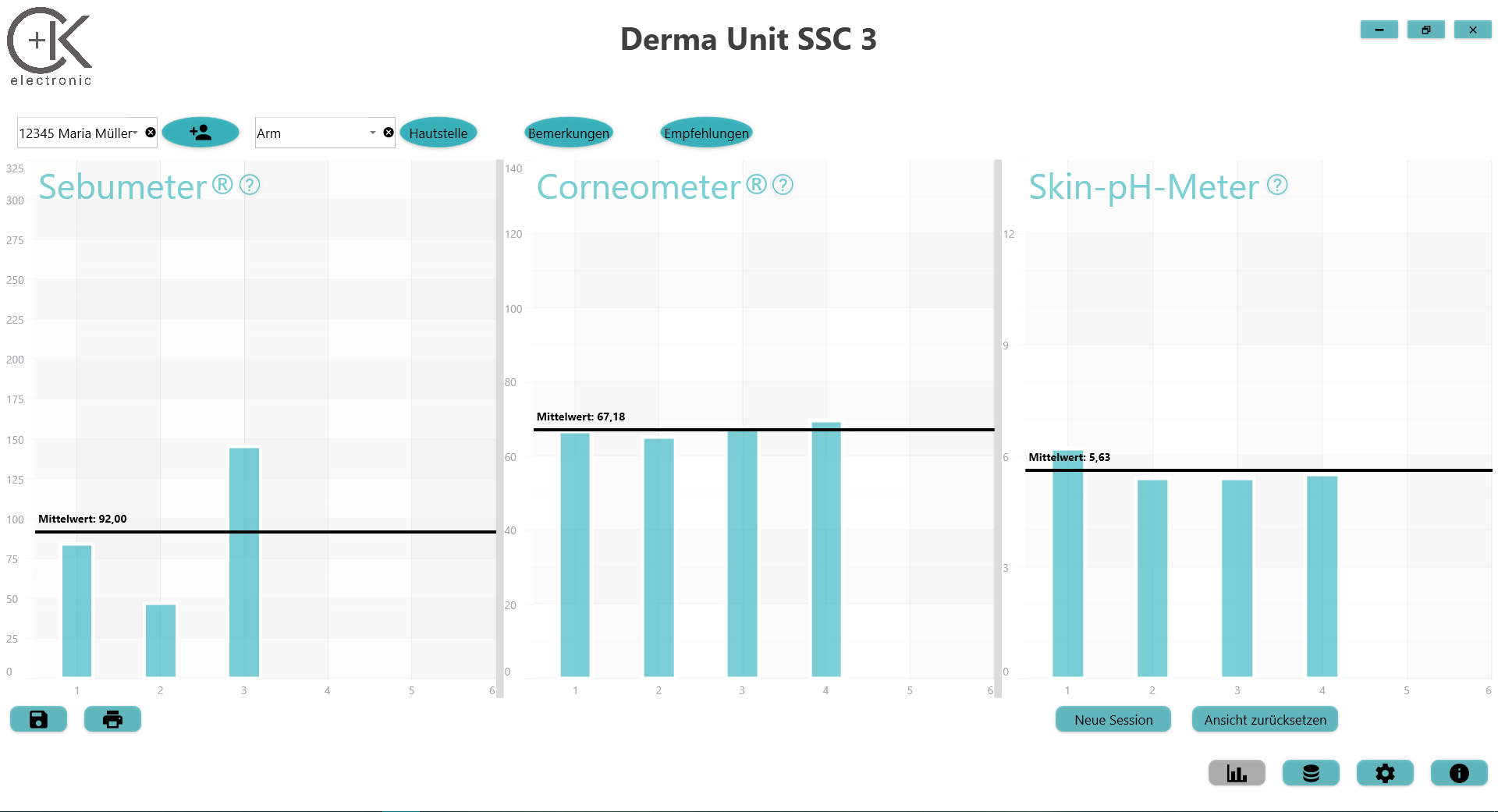 Dermaunit SSC3 Software d