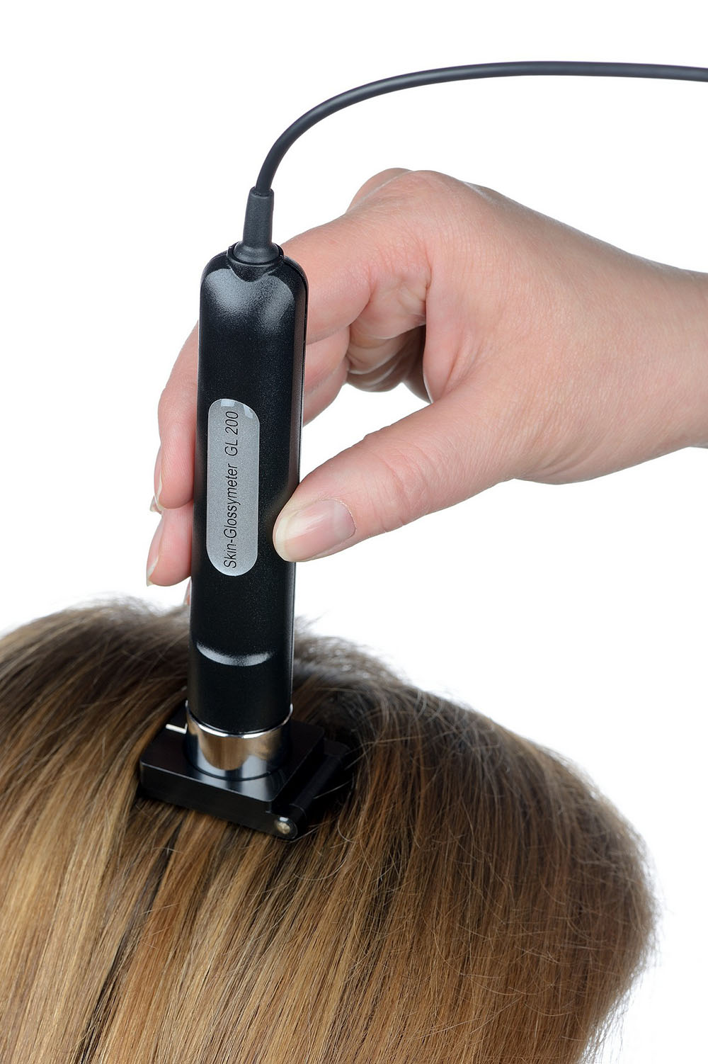 gloss measurement directly on hair